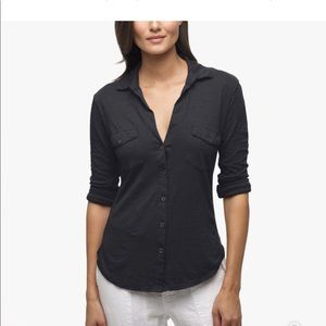 James Perse black button up! Size 1